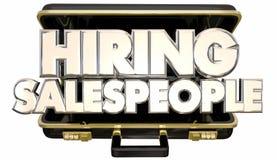 Hurende Verkoopmensen Job Help Wanted Briefcase Stock Afbeeldingen