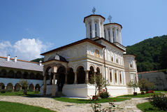 Travel to Romania: Horezu Monastery White Church  Royalty Free Stock Image