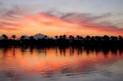 Hurgada на заходе солнца, Египте. Стоковое фото RF