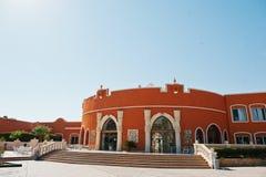 Hurghada, Ägypten -20 im August 2016: Luxus-Resort-karibische Welt S Lizenzfreie Stockbilder