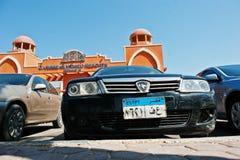 Hurghada, τον Αύγουστο του 2016 της Αιγύπτου -20: Αυτοκίνητο πρωτονίων με την άδεια π της Αιγύπτου Στοκ εικόνες με δικαίωμα ελεύθερης χρήσης