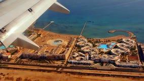 Hurghada под крылом Стоковое Изображение