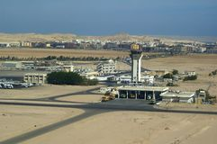 Hurghada airport. With communication tower Royalty Free Stock Photography