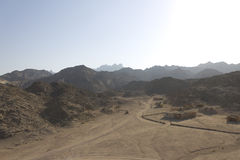Hurghada desert mountains Stock Image