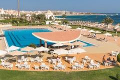 Hurghada Egipt, LUTY, - 2015: Pięć pałac gwiazdowy Stary hotel Obrazy Stock