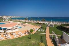 Hurghada Egipt, LUTY, - 2015: Pięć pałac gwiazdowy Stary hotel Obraz Royalty Free