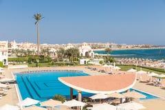 Hurghada Egipt, LUTY, - 2015: Pięć pałac gwiazdowy Stary hotel Fotografia Stock