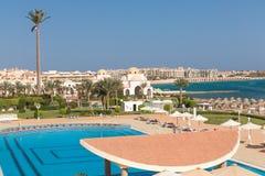 Hurghada Egipt, LUTY, - 2015: Pięć pałac gwiazdowy Stary hotel Obrazy Royalty Free
