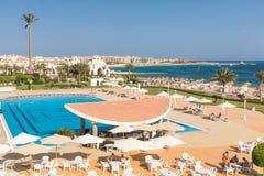 Hurghada Egipt, LUTY, - 2015: Pięć pałac gwiazdowy Stary hotel Zdjęcie Stock