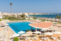 Hurghada Egipt, LUTY, - 2015: Pięć pałac gwiazdowy Stary hotel Obraz Stock