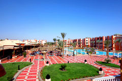 Hurghada Egipt, Maj, - 9,2015 Piękny tropikalny kurort w Hurghada Obrazy Royalty Free