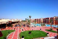 Hurghada, Egitto - maggio 9,2015 Bella località di soggiorno tropicale in Hurghada Immagini Stock Libere da Diritti