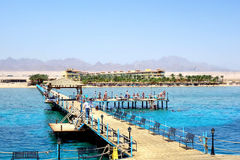 Hurghada, Egitto - maggio 9,2015 Bella località di soggiorno tropicale in Hurghada Fotografia Stock