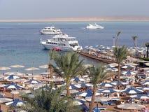 Hurghada - Egypt. Hotel beach in Egypt - Hurghada Stock Photos