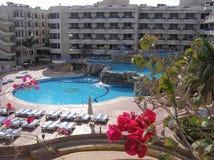 Hurghada - Egypt. Hotel swimmingpools in Egypt - Hurghada Stock Photo