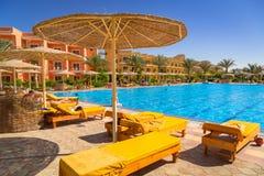 Tropical resort Three Corners Sunny Beach in Hurghada. HURGHADA, EGYPT - APR 13, 2013: Tropical resort Three Corners Sunny Beach in Hurghada. Three Corners is Stock Photo