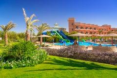Tropical resort Three Corners Sunny Beach in Hurghada. HURGHADA, EGYPT - APR 13, 2013: Tropical resort Three Corners Sunny Beach in Hurghada. Three Corners is Stock Images