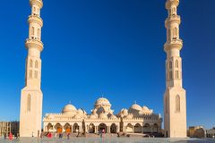 People at the mosque in Hurghada, Egypt Stock Photo