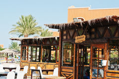 Hurghada, Egypt -20 August 2016: Arabian cafe restaurant  in lux Stock Photo