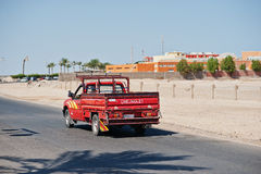 Hurghada, Egypt -20 August 2016: Chevrolet pickup car with Egypt Royalty Free Stock Photo
