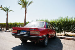 Hurghada, Egypt -20 August 2016: Peugeot 505 GT car with Egypt l stock photo