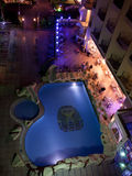 HURGHADA, EGYPT-DEKABR 20: night view of the King Tut hotel terr Royalty Free Stock Photo