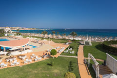 Hurghada, Egypt - FEBRUARY 2015: Five star Old Palace Hotel Royalty Free Stock Image