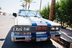 Hurghada, Egypte -20 Augustus 2016: Retro de coupéauto van GMC met Egypte Royalty-vrije Stock Afbeeldingen