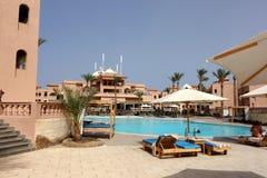 Hurghada Egypten - Maj 9,2015 Härlig tropisk semesterort i Hurghada Fotografering för Bildbyråer