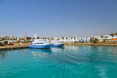 Hurghada harbor in Egypt Royalty Free Stock Image