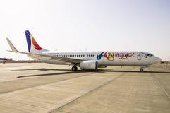 Hurghada, Hurghada International Airport, Egypt - April 17, 2018: Boeing 737 SU-TMJ FlyEgypt royalty free stock photography