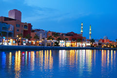 Hurghada Marina. At nigth in Egypt Stock Photo