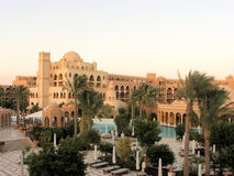 Hurghada resort by day. Wonderful mix of vegetation and architecture Stock Photo