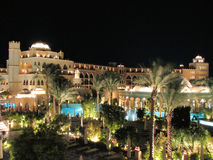 Hurghada resort by night. Wonderful mix of vegetation and architecture Stock Photo