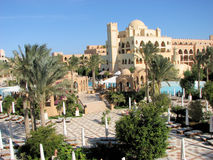 Hurghada resort. Wonderful architecture  in Egypt Stock Photos
