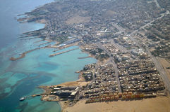Hurghada town on Red Sea . Hurghada town on Red Sea from air view Stock Images