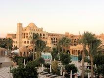 Hurghadatoevlucht tegen dag Stock Foto