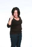 hurlement de femme de Latina Photos stock