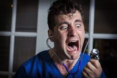 Hurlement de l'infirmière folle Photographie stock libre de droits
