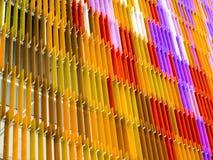 hurlement orange coloré intérieur et extérieur de feuille en plastique acrylique Photos stock