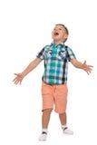 Hurlements de petit garçon Images libres de droits