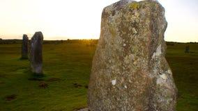 Hurlers Bodmin legt, Cornwall, het Verenigd Koninkrijk vast royalty-vrije stock afbeelding