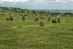 The Hurlers near Minions Cornwall, UK Royalty Free Stock Images