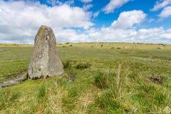 Hurlers op bodmin legt in Cornwall Engeland het UK vast stock afbeelding