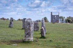 Hurlers op bodmin legt in Cornwall Engeland het UK vast Royalty-vrije Stock Afbeelding