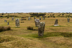 The Hurlers stone circle, Minions. Stock Photos