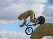 HURLESTON, CHESHIRE/UK - 6 OKTOBER: Olympisch fietserstro sculp Royalty-vrije Stock Foto's