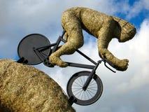 HURLESTON, CHESHIRE/UK - 6 OKTOBER: Olympisch fietserstro sculp Stock Foto's