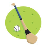 Hurley Stick and Ball. Illustration royalty free illustration