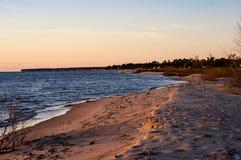 huron αυγής λίμνη Στοκ Εικόνες